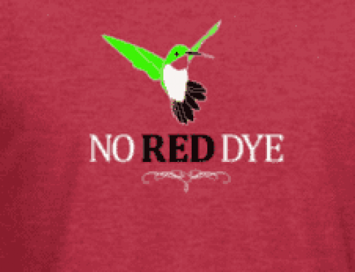 "Help us help hummingbirds by spreading the words…""NO RED NECTAR"""